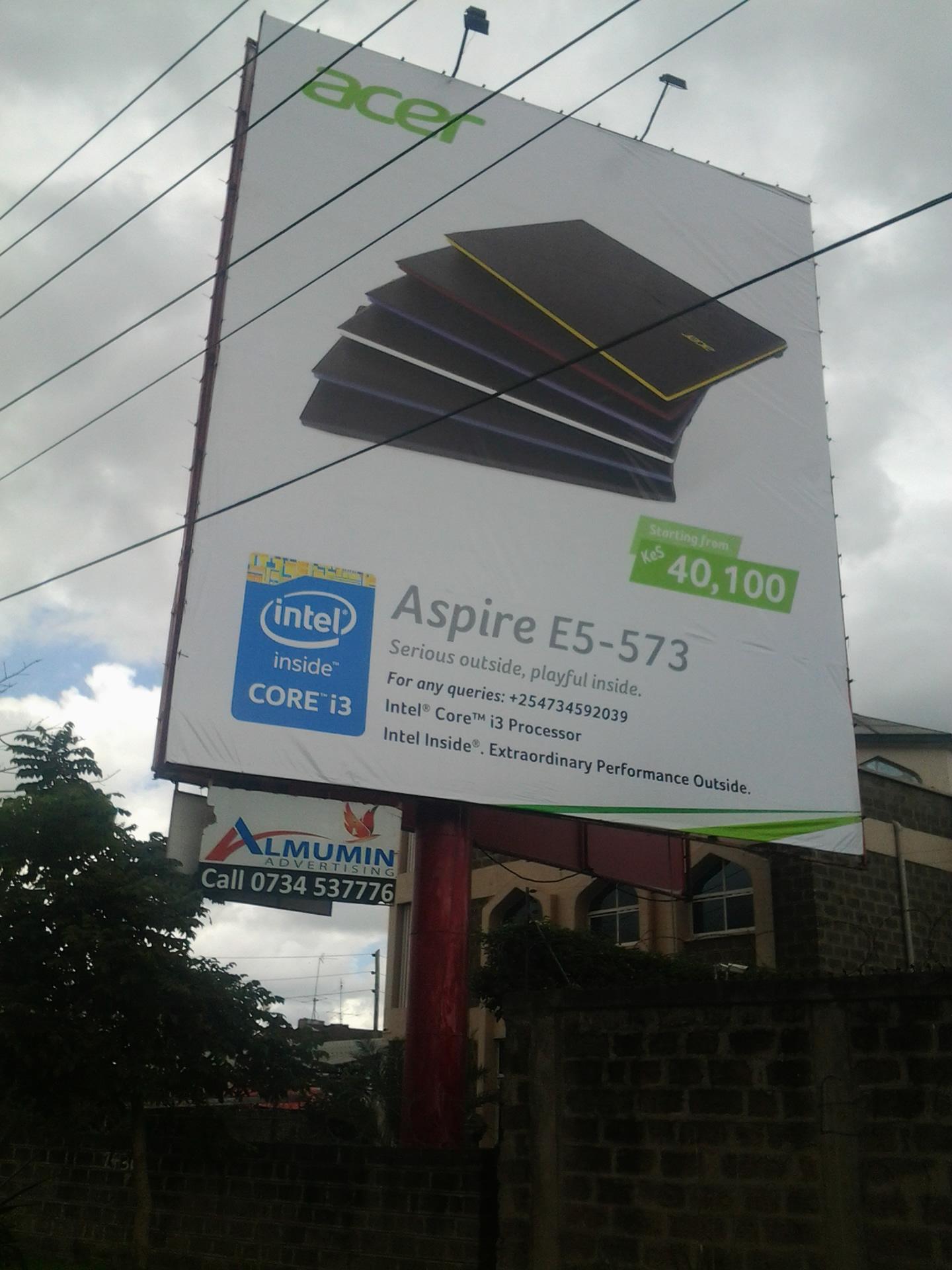 Acer Aspire Billboard